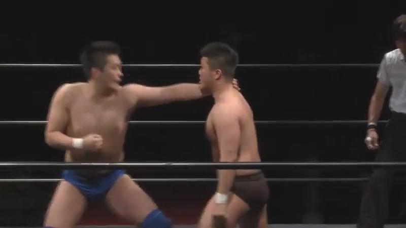 Shoki Kitamura, Towa Iwasaki vs. Koji Kawamura, Yasutaka Oosera (Michinoku Pro - Tokyo Conference 2018 Vol. 2 ~ Jisetsu Torai)