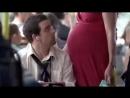 Беременная женщина проучила невежу в автобусе.