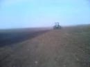 Трактор ХТЗ и культиватор Весенняя культивация