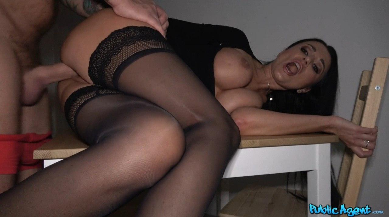 Amazing body of sexy brunette