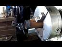 Как уменьшить диаметр трубы трением Нарезание резьбы