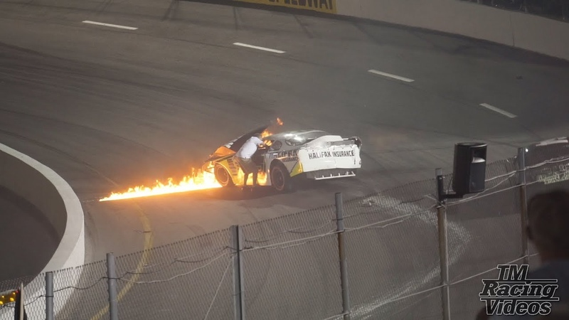 Mike Jones Late Model Crash and Fire (South Boston Speedway 6/16/18)