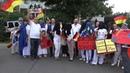 Protest der AfD KV Dresden gegen Burkakurs an Volkshochschule mit Happy Vibes und Rene Jahn