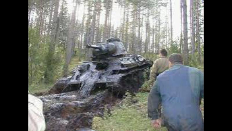 подъем танка из болота 2017