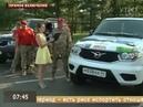 Прямое включение В Красноярск вернулись участники автомарша Юнармия от Победы к Победам