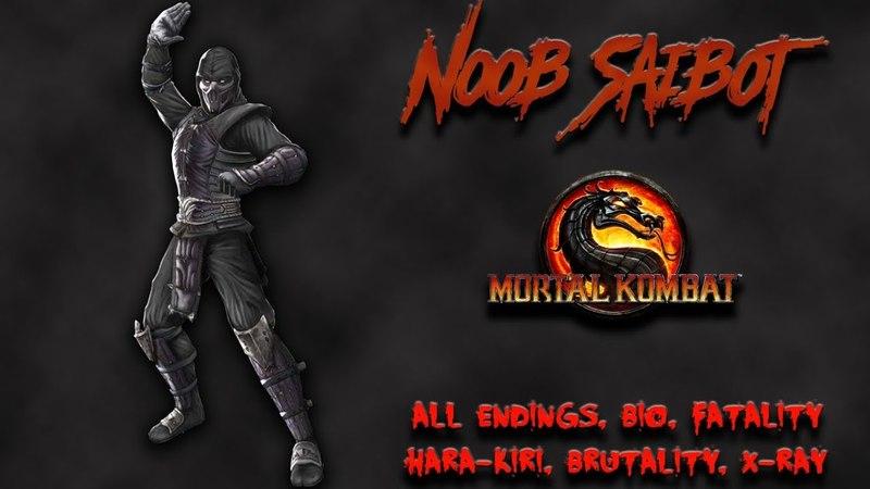 Mortal Kombat - All Fatality, Bio, Ending - Noob Saibot