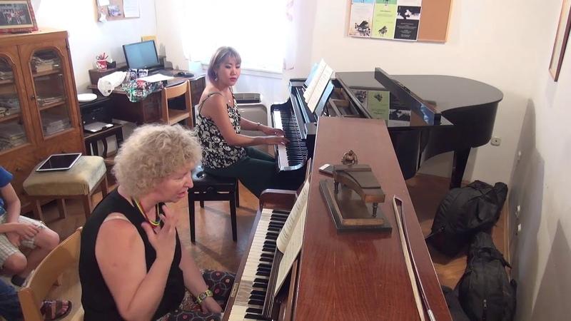 05.07.2018 Mira Marchenko's master-classes. Gloria Kim. Trogir Music School, Croatia