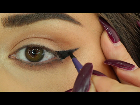 Best way to draw a Perfect eyeliner for HOODED EYES أفضل طريقة لرسم الايلاينر للعيون