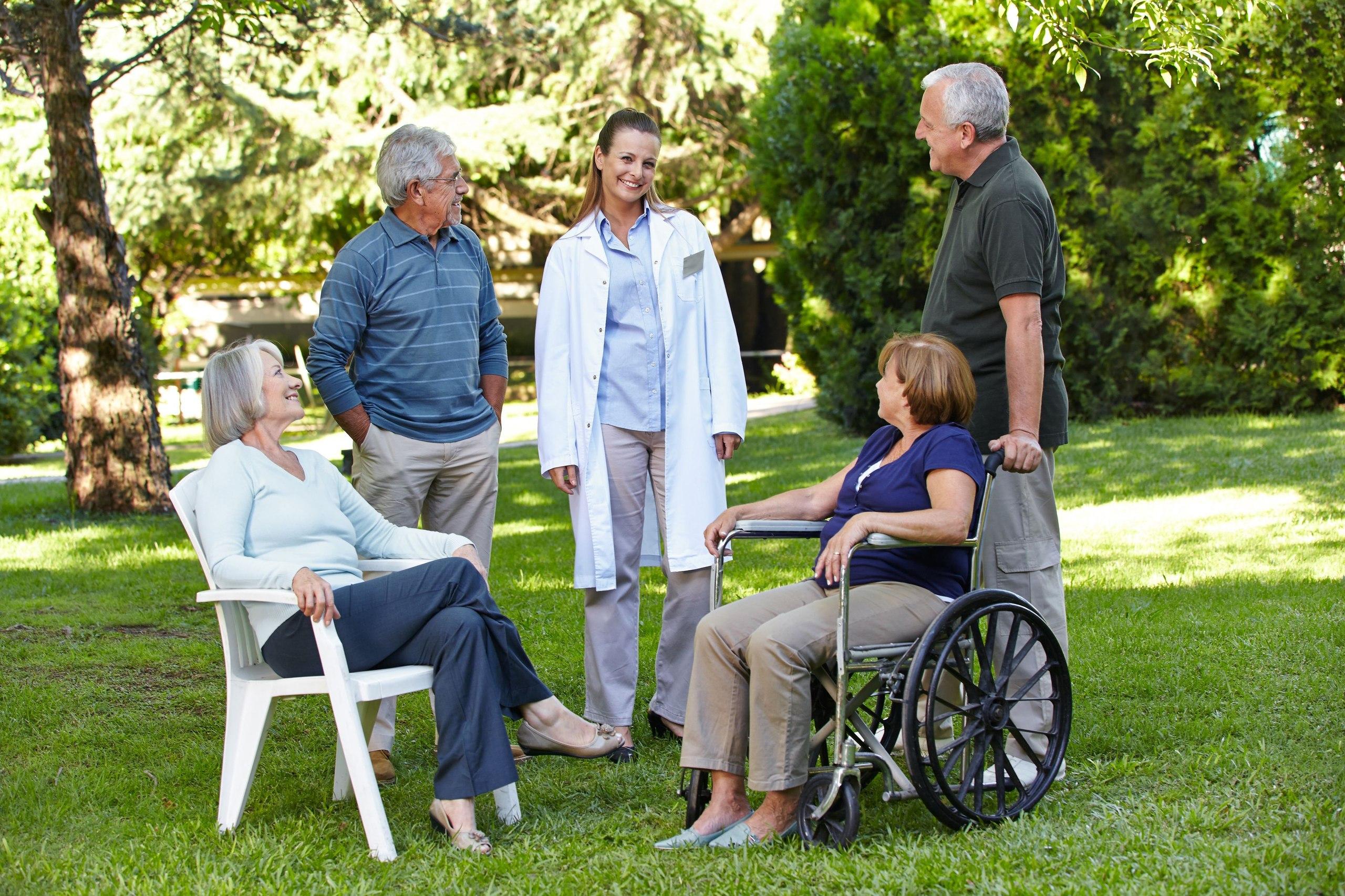 Возраст людей в домах престарелых