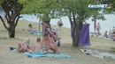 Керчь: горожане наслаждаются пляжным сезоном