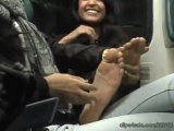 Sassys Feet Gets Tickled