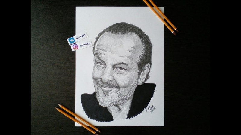 Jack Nicholson speed drawing portrait | ivan94s