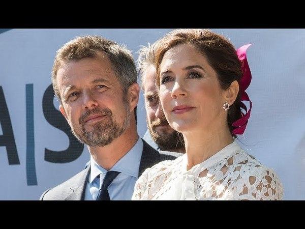 Kronprins Frederik 50 år Kronprinsparret hjerteligt modtaget i Aarhus