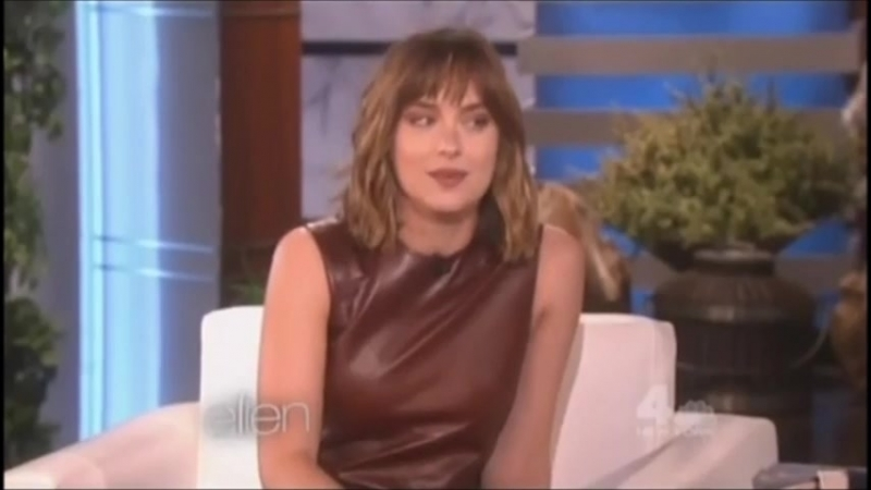 Dakota Johnson chez Ellen Degeneres le 18 septembre 2015