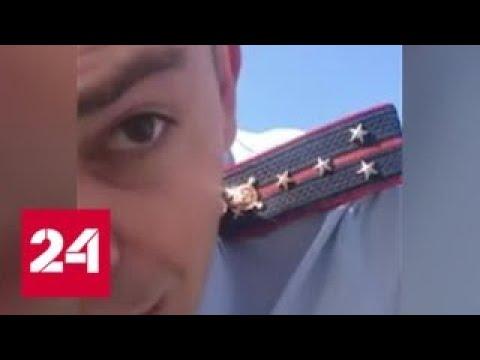 Капитан Росгвардии попытался отобрать права у водителя во время дорожного конфликта - Россия 24