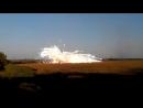 Взрыв ракеты ракеты ОТРК ТОЧКА-У ВСУ во время пуска близ Дебальцево, 20-е числа августа 2014 года