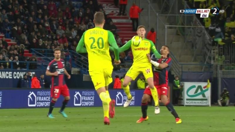 Чемпионат Франции 2017-18 24-й тур Кан – Нант 2 тайм [720, HD]