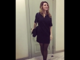 Анастасия Макеева в черных колготках