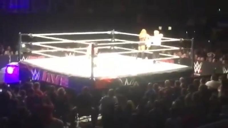 Carmella vs Charlotte vs Becky Lynch Smackdown Womens Title Match WWE Live