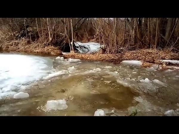 Ручей бежит, о лёд тает Der Bach läuft