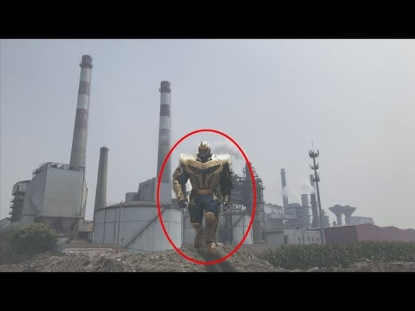 9 AVENGERS THANOS INFINITY WAR Caught on Camera Spotted in Real Life !