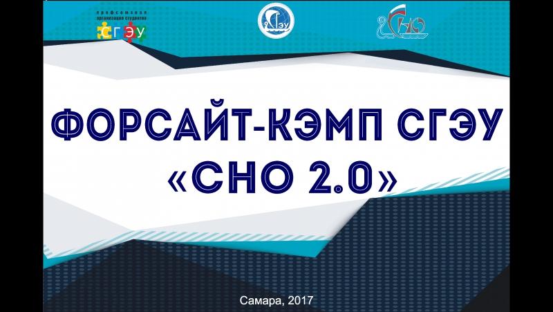 Форсайт-кэмп СГЭУ СНО 2.0