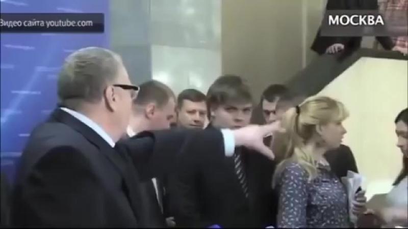 ЖЕСТЬ У Жириновского поехала крыша во время интервью в Госдуме (причём поехала на правильной почве и он прав-еврей в акуе)