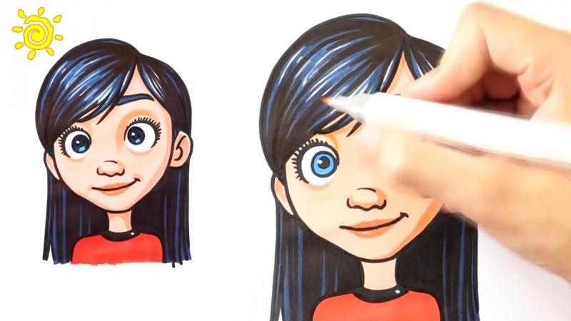 Рисуем с детьми Суперсимейка 2 Как нарисовать Виолетту Парр