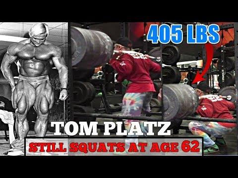 TOM PLATZ Still Squats At Age 62 - Then Now Squat Comparison