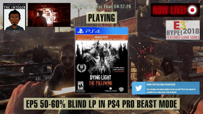 Dying to Watch? SOLO Dying Light (Main 60-50% Blind) - Ep 5 [Tips on request only thanks!] [Post E3 2018 Dying Light 2 reveal hy