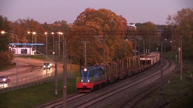 Тепловоз ЧМЭ3 5371 с рабочим поездом CME3 5371 with maintenance train