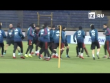Тренировка футбольной сборной Испании в Санкт-Петербурге