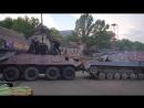 Восьмиколесная махина против танка