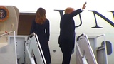 President Trump and the first lady Melania Trump depart Washington, DC, en route to Johnstown, PA