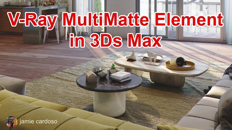 Vray multimatte element 3ds max