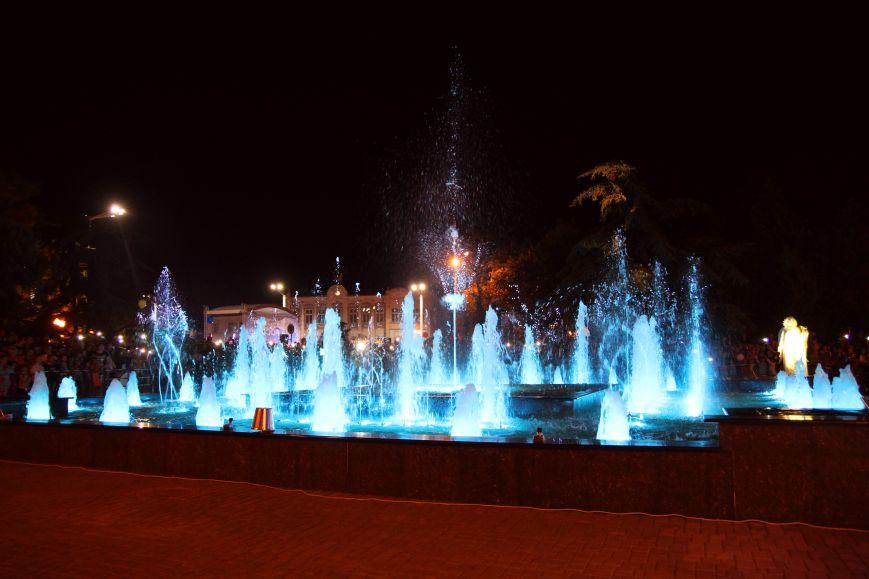 Новый цветной фонтан открыли в Евпатории