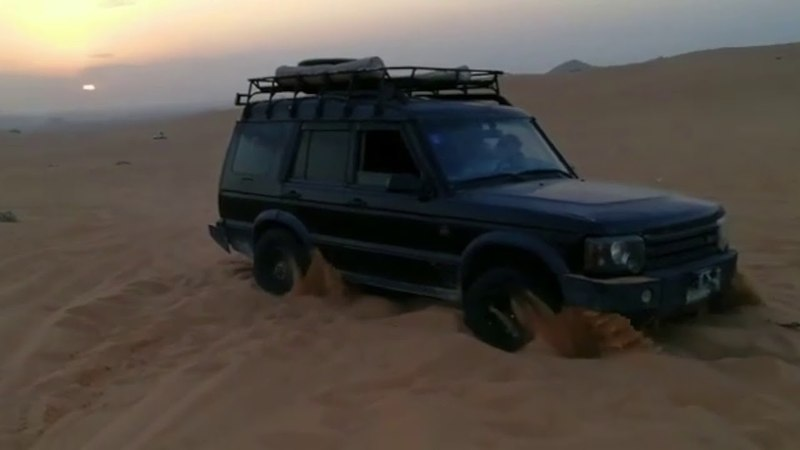 Discovery 2 stuck in sand?