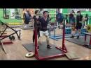 Канафин Нургиз присед 110 кг 5 п по 3 р при весе 58.600