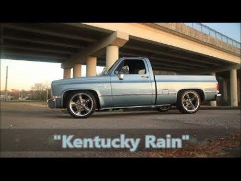 86 Slick and Slammed Squarebody Silverado Hot Rod C10 Kentucky Rain FOR SALE!