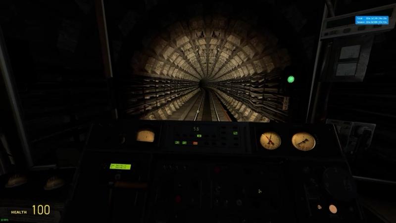Metrostroi Ламповая поездка по Crossline