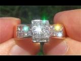 Certified Jewelry VS2F Natural Diamond Engagement Anniversary 18k Yellow Gold Estate Ring - C916