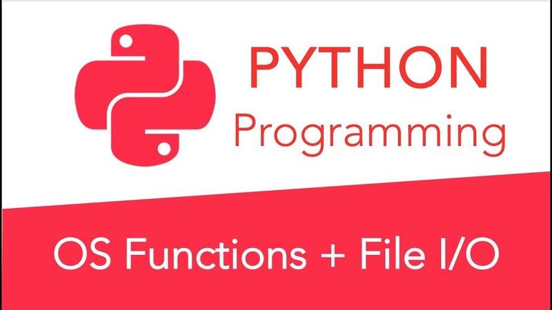 Advanced Python Programming - File Input and Output