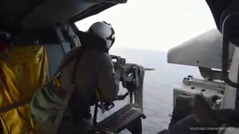 Sailors assigned to Helicopter Sea Combat Squadron HSC 11 the Dragon Slay