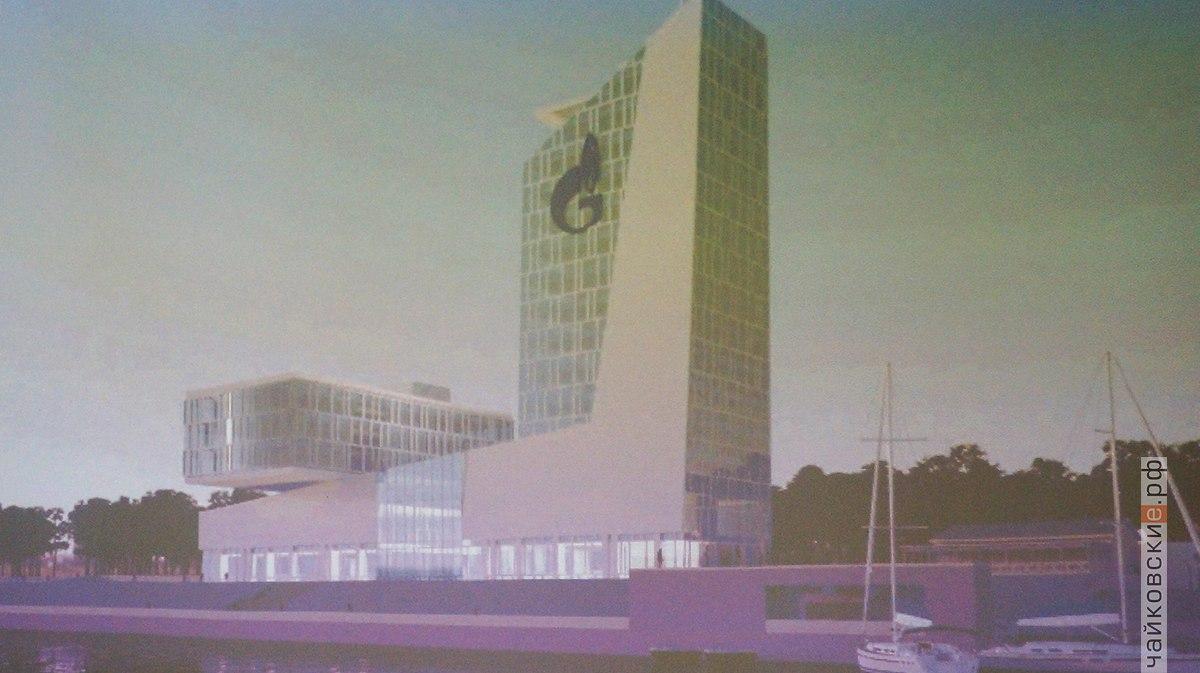 здание газпрома, строительство, Чайковский, 2018 год