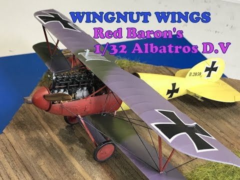 Building the 132 Wingnut Wings Red Baron Albatros D.V