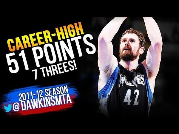 Kevin Love UNREAL Performance 2012.03.23 at Thunder - Career-HiGH 51 Pts, 7 Threes! | FreeDawkins