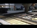 Процесс заливки фасадных панелей