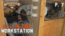 DIY DUST COLLECTOR added to All In One woodworking workstation P7