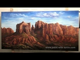 FINAL EPISODE Desert Landscape 4x8ft canvas Paint with Kevin