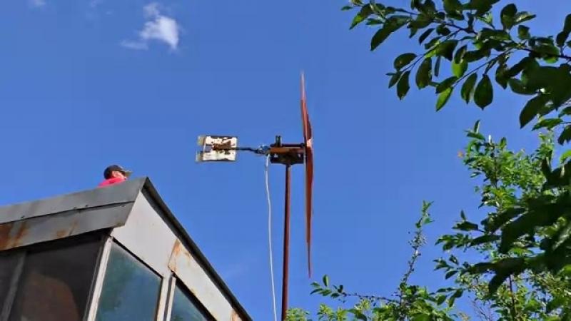 ✅Собрал мощный Ветро Генератор на целый дом 🚀 Бесплатное электричество 💡 Чистая свободная энергия 360p